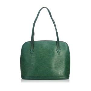 Louis Vuitton Schoudertas groen Leer