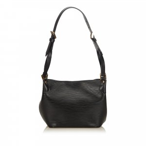 Louis Vuitton Shoulder Bag black leather