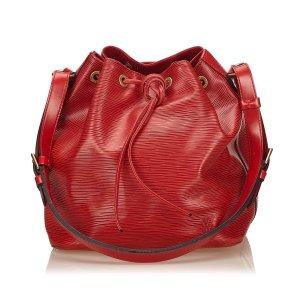 Louis Vuitton Sac porté épaule rouge cuir