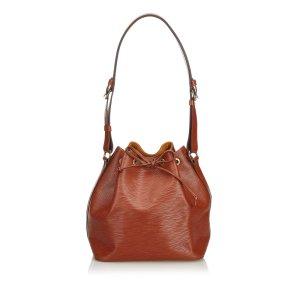 Louis Vuitton Bolsa de hombro marrón claro Cuero