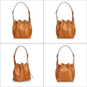 Louis Vuitton Bolsa de hombro marrón Cuero