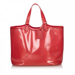 Louis Vuitton Tote red polyvinyl chloride