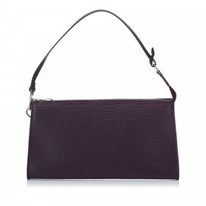 Louis Vuitton Handtas violet Leer