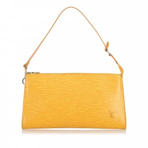 Louis Vuitton Bolso amarillo Cuero