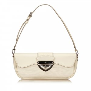 Louis Vuitton Schoudertas beige Leer