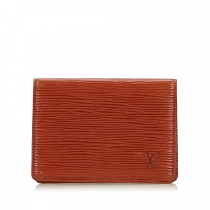 Louis Vuitton Porte-cartes rouge cuir