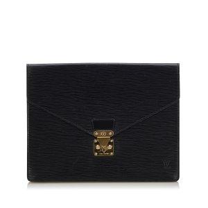 Louis Vuitton Zakentas zwart Leer