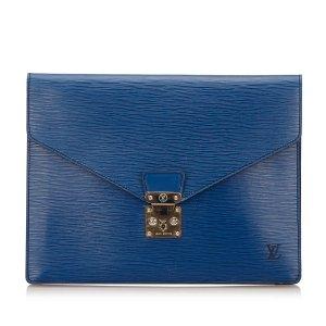 Louis Vuitton Business Bag blue leather