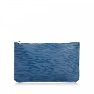 Louis Vuitton Borsellino blu Pelle