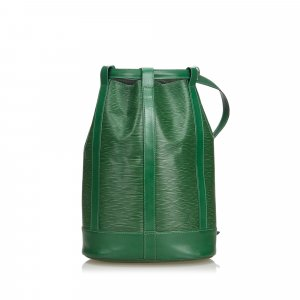 Louis Vuitton Backpack green leather