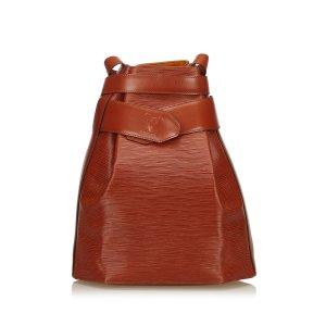 Louis Vuitton Sac porté épaule brun cuir