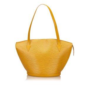 Louis Vuitton Sac fourre-tout jaune cuir
