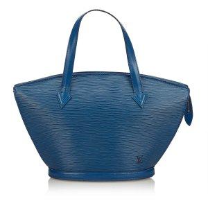 Louis Vuitton Sac porté épaule bleu cuir