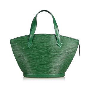 Louis Vuitton Shoulder Bag green leather