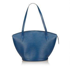 Louis Vuitton Sac fourre-tout bleu cuir