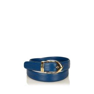 Louis Vuitton Ceinture bleu cuir