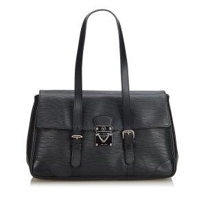 Louis Vuitton Bolsa de hombro negro Cuero