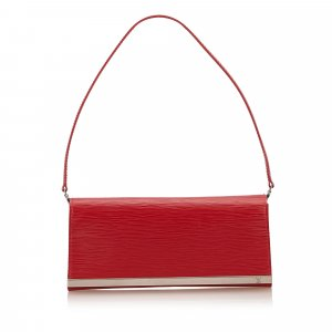 Louis Vuitton Schoudertas rood Leer
