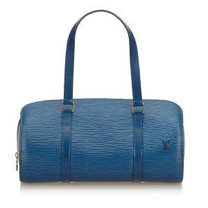 Louis Vuitton Handtas blauw Leer