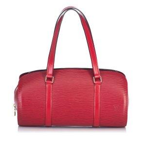 Louis Vuitton Handtas rood Leer