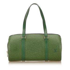Louis Vuitton Sac à main vert cuir