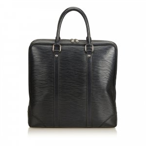 Louis Vuitton Bolso business negro Cuero