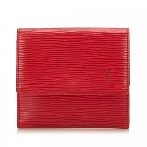 Louis Vuitton Wallet red leather