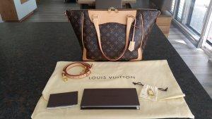 Louis Vuitton Sac à main crème-cognac