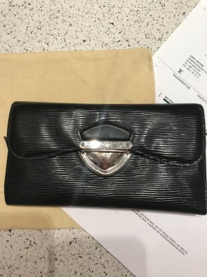 Louis Vuitton Cartera negro Cuero