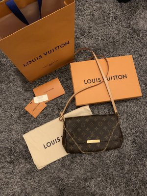 Louis Vuitton Borsa a spalla cognac-marrone