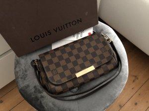 Louis Vuitton Favorite Damier Ebene Braun Canvas Bandouliere