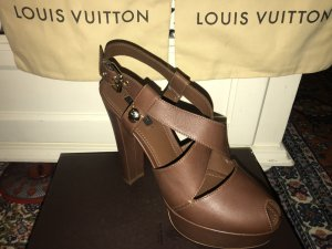 Louis Vuitton Chaussures brun cuir