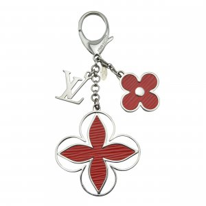 Louis Vuitton Key Chain red-silver-colored