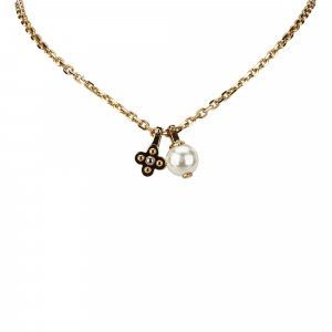 Louis Vuitton Flower Charmy Pearl Necklace