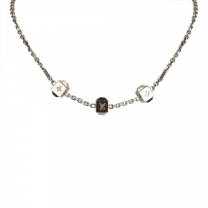 Louis Vuitton Collar color plata metal