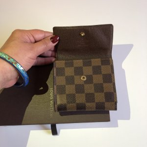 Louis Vuitton Cartera marrón-negro-marrón grisáceo
