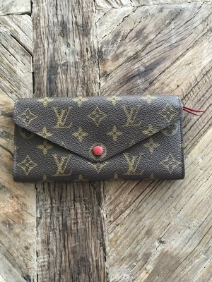 Louis Vuitton Wallet brick red-bronze-colored leather