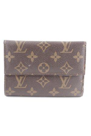 Louis Vuitton Portefeuille brun foncé-marron clair style rétro
