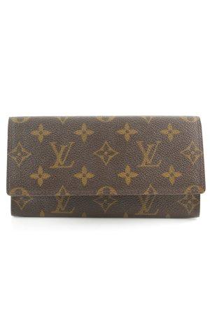 Louis Vuitton Portefeuille brun foncé-ocre Motif de monogramme style classique