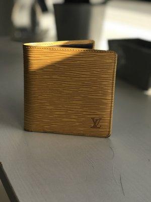 Louis Vuitton Wallet dark yellow-grey lilac leather