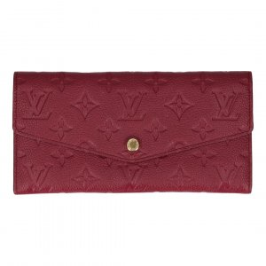 Louis Vuitton Portemonnee paars-goud Leer