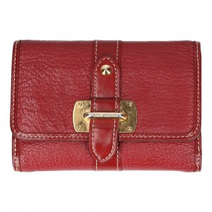 Louis Vuitton Portefeuille rouge-doré cuir