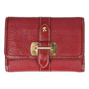 Louis Vuitton Geldbörse Le Somptueux aus Suhali Leder in Tanami Rot Portemonnaie, Brieftasche