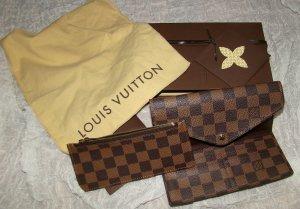 Louis Vuitton Portefeuille brun noir-marron clair cuir