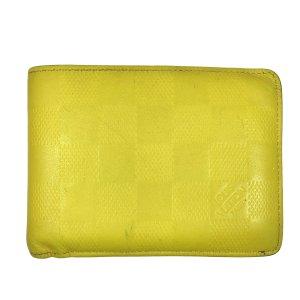 Louis Vuitton Portefeuille jaune citron vert cuir