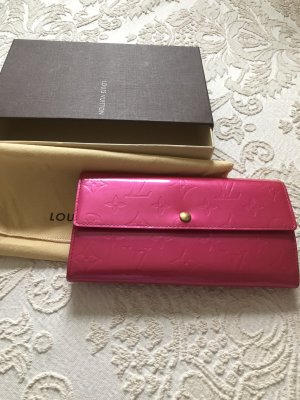 Louis Vuitton Geldbörse Orginal vernis Leder pink