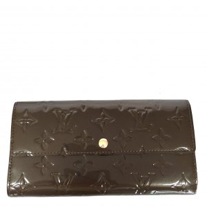 Louis Vuitton Wallet dark green-gold-colored