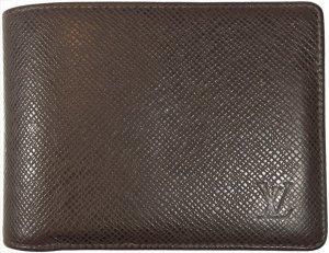 Louis Vuitton Portefeuille brun foncé-brun cuir
