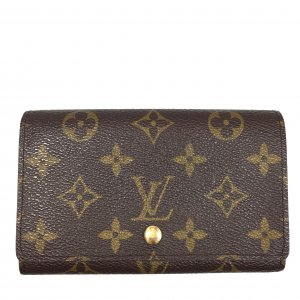 LOUIS VUITTON GELDBÖRSE PORTE-MONNAIE BILLETS TRÉSOR AUS MONOGRAM CANVAS