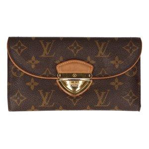 Louis Vuitton Cartera marrón oscuro-marrón
